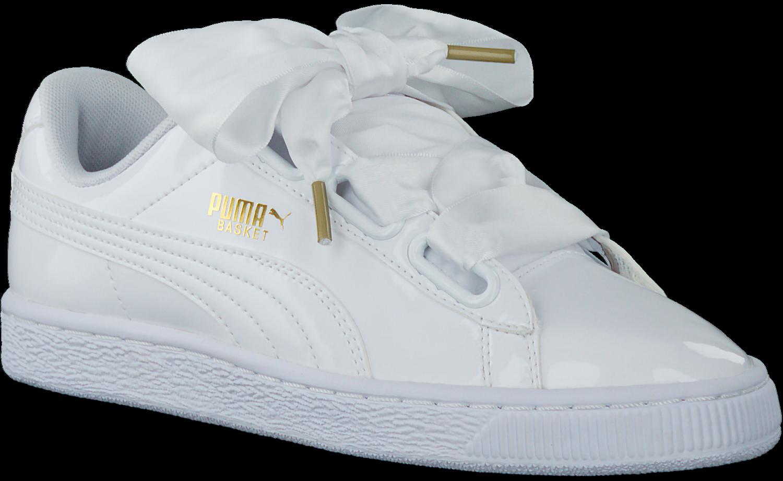 9ecf20f2bbe Witte PUMA Sneakers BASKET HEART PATENT - Omoda.be