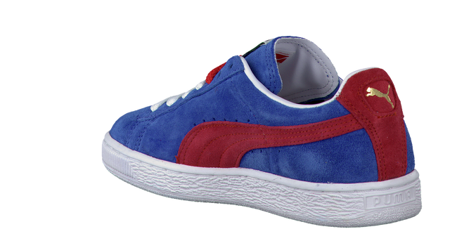 PUMA Baskets SUEDE CLASSIC JR en bleu - large