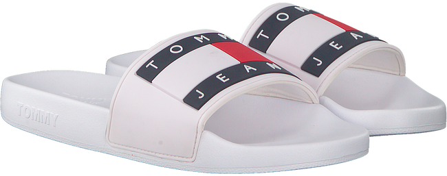 Witte TOMMY HILFIGER Slippers FLAG POOL  - large
