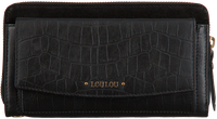 LOULOU ESSENTIELS Porte-monnaie SLB CLASSY CROC en noir  - medium