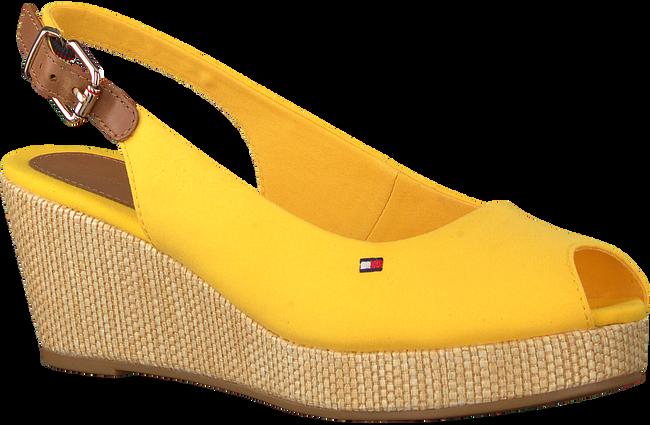 TOMMY HILFIGER Espadrilles ICONIC ELBA SLING BACK WEDGE en jaune  - large