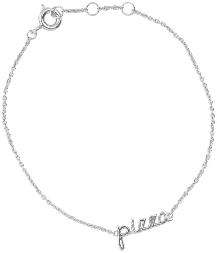 Zilveren ALLTHELUCKINTHEWORLD Armband URBAN BRACELET PIZZA - larger