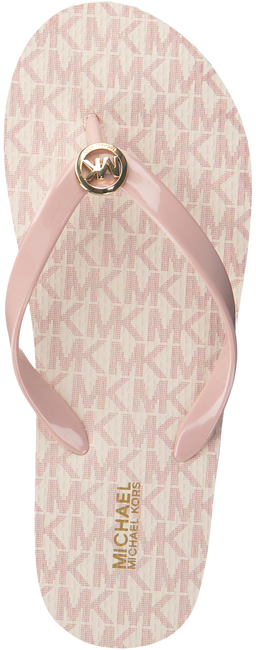 MICHAEL KORS Tongs MK FLIP FLOP en rose - large