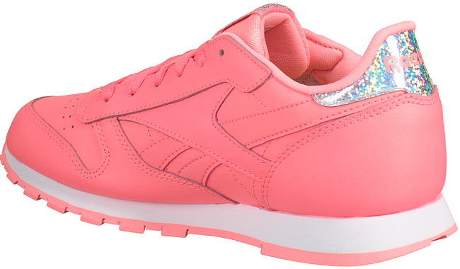 REEBOK Baskets CL LEATHER KIDS en rose - large