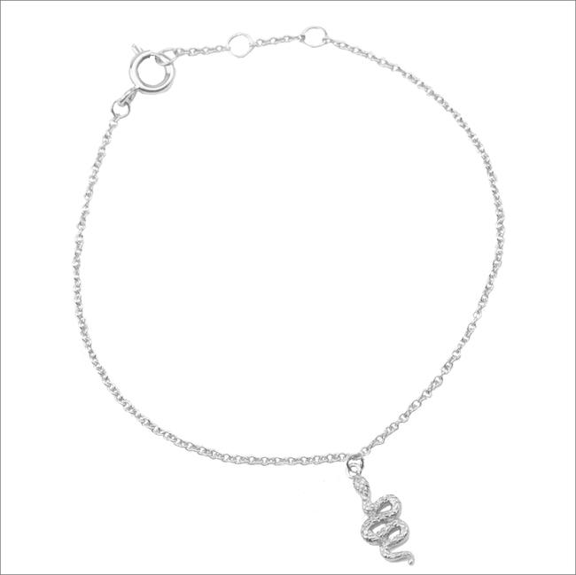 ALLTHELUCKINTHEWORLD Bracelet SOUVENIR NECKLACE SNAKE en argent - large