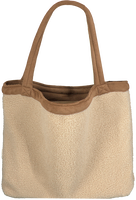 Beige STUDIO NOOS Shopper TEDDY LAMMY MOM-BAG  - medium