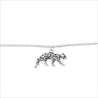 ALLTHELUCKINTHEWORLD Bracelet SOUVENIR BRACELET LEOPARD en argent - medium