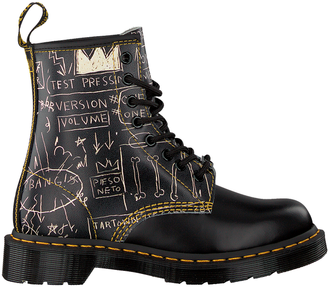 DR MARTENS Bottines à lacets 1460 W en noir  - large