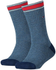 TOMMY HILFIGER Chaussettes TH KIDS ICONIC SPORTS SOCK 2P en bleu - small