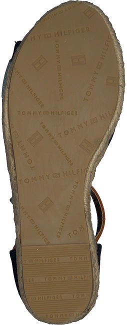 TOMMY HILFIGER Sandales ROPE WEDGE SANDAL en bleu  - large