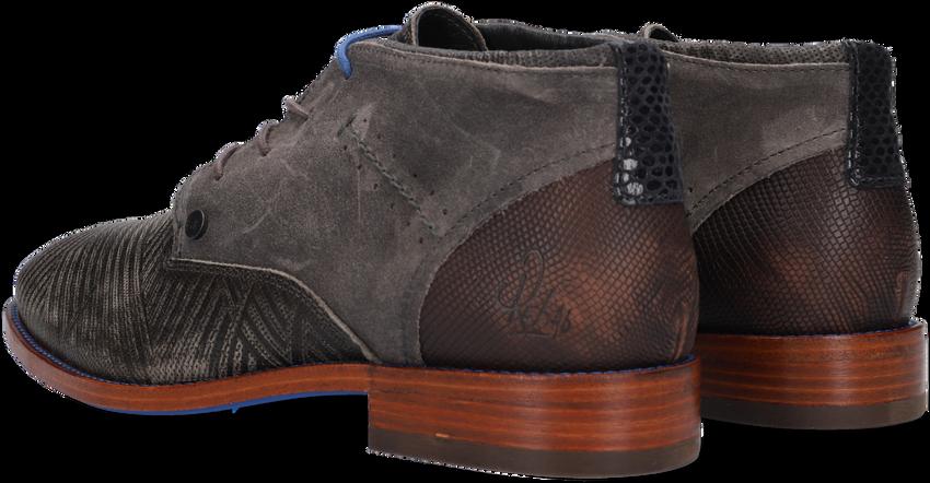 Grijze REHAB Nette schoenen SALVADOR ZIG ZAG - larger