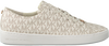 MICHAEL KORS Baskets KEATON LACE UP en blanc - small