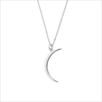 Zilveren ATLITW STUDIO Ketting SOUVENIR NECKLACE LONG MOON  - medium