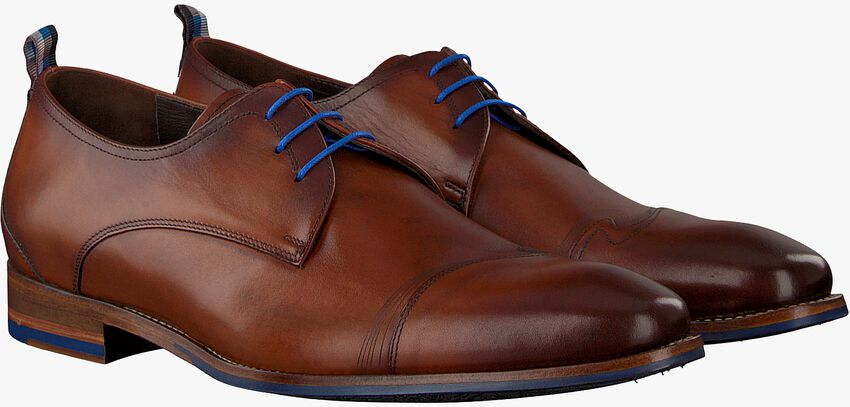 Cognac FLORIS VAN BOMMEL Nette schoenen 18006 - larger