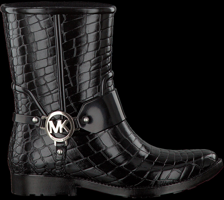 223a77f83be MICHAEL KORS Bottes hautes MK CROCO RAINBOOTIE en noir - large. Next