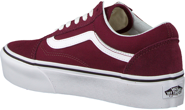 vans bordeaux rood old skool