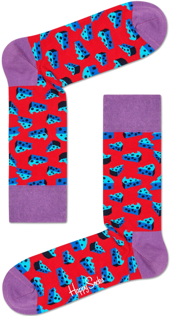 HAPPY SOCKS Chaussettes CHEESE en rouge - large