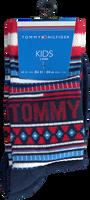 TOMMY HILFIGER Chaussettes TH KIDS SOCK 2P MULTI COLOR en rouge  - medium