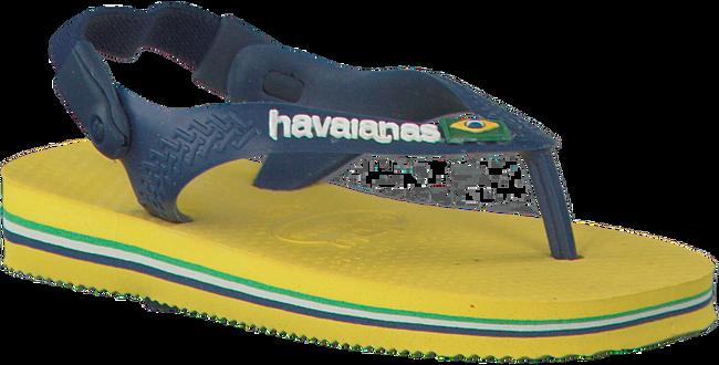 HAVAIANAS Tongs BABY BRASIL LOGO en jaune - large