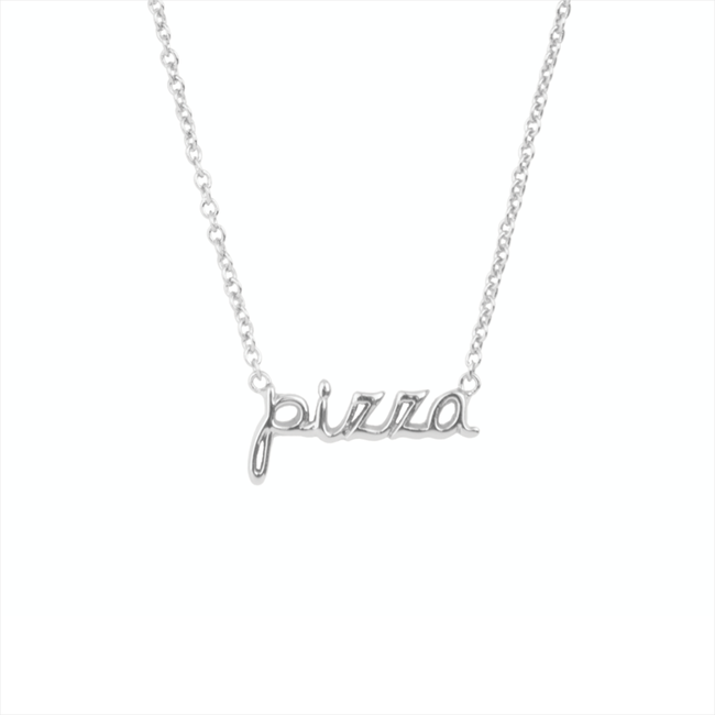 ALLTHELUCKINTHEWORLD Collier URBAN NECKLACE PIZZA en argent - large
