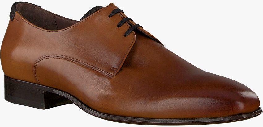 cognac FLORIS VAN BOMMEL shoe 14095  - larger