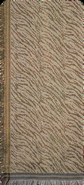 BECKSONDERGAARD Foulard MILLE ZEBRA SCARF en or  - large
