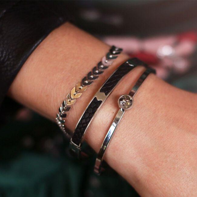 MY JEWELLERY Bracelet LITTLE STONE BANGLE en argent - large
