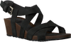 Zwarte TEVA Sandalen W MAHONIA WEDGE CROSS  - small
