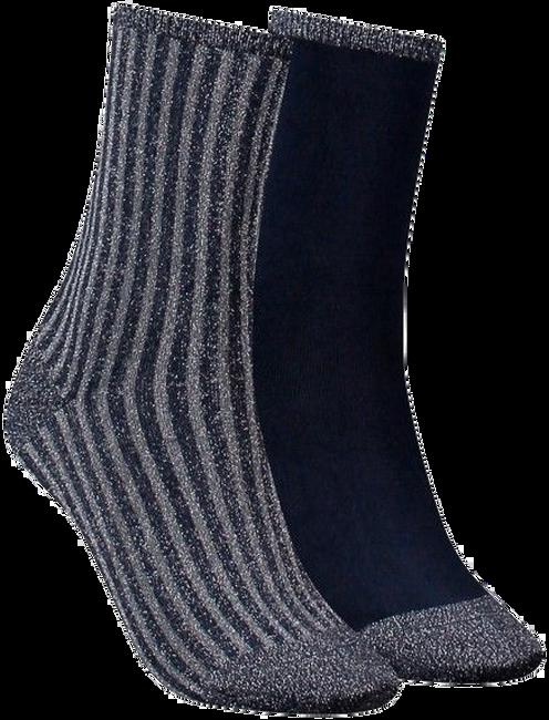 Blauwe TOMMY HILFIGER Sokken TH WOMEN VERTICAL LUREX - large