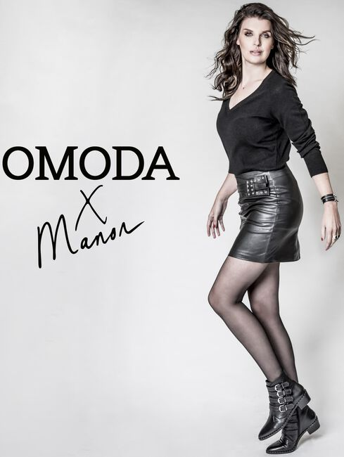 OMODAXMANON Bottines AD240 en noir - large