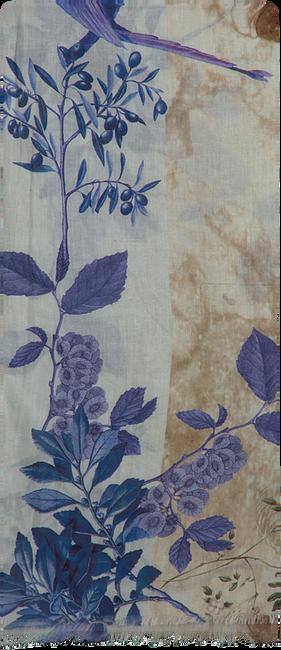 Blauwe NOTRE-V Sjaal INDIA  - large