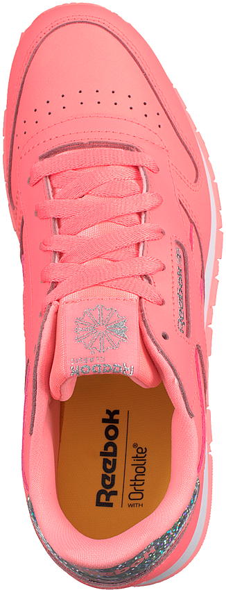 Roze REEBOK Sneakers CL LEATHER KIDS  - larger