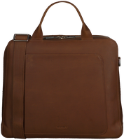 Cognac MYOMY Laptoptas MY LOCKER BAG BUSINESS  - medium