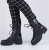 RED-RAG Bottines à lacets 76606 en noir  - small