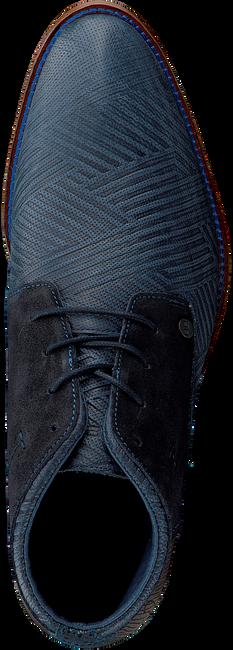 REHAB Bottines à lacets SALVADOR ZIG ZAG en bleu - large