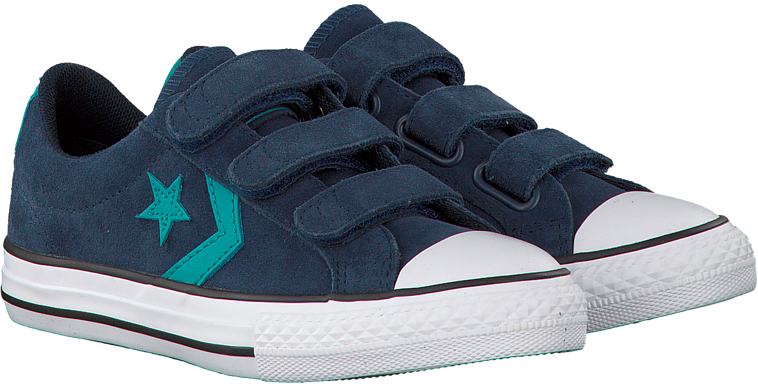79e2510d57a Blauwe CONVERSE Sneakers STAR PLAYER 3V OX KIDS - Omoda.be