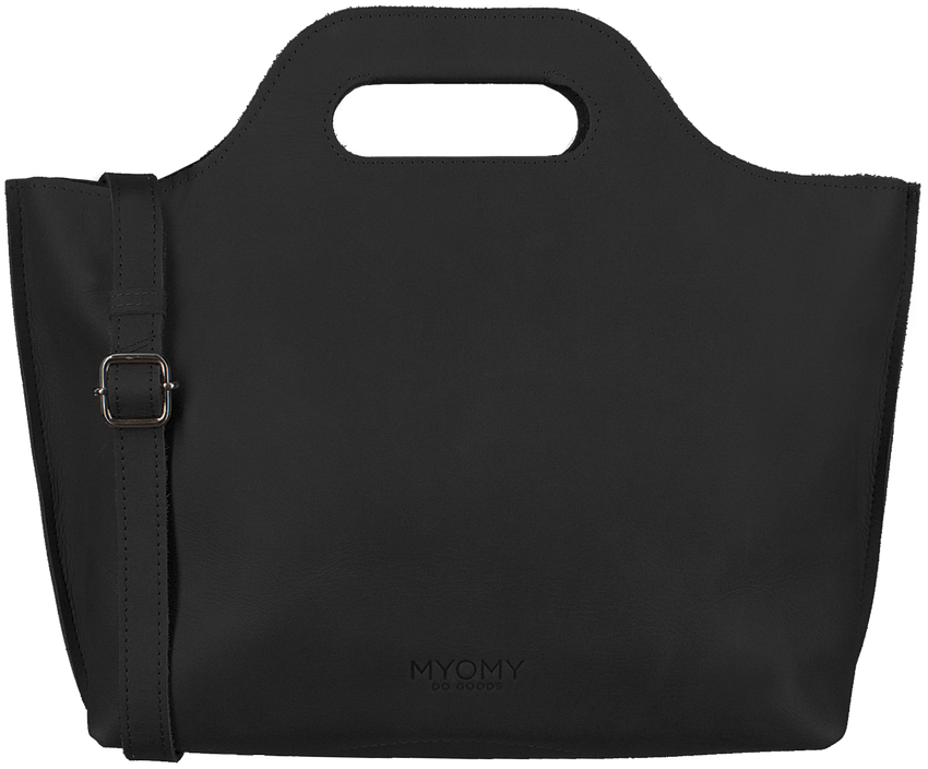Zwarte MYOMY Handtas MY CARRY BAG HANDBAG - larger