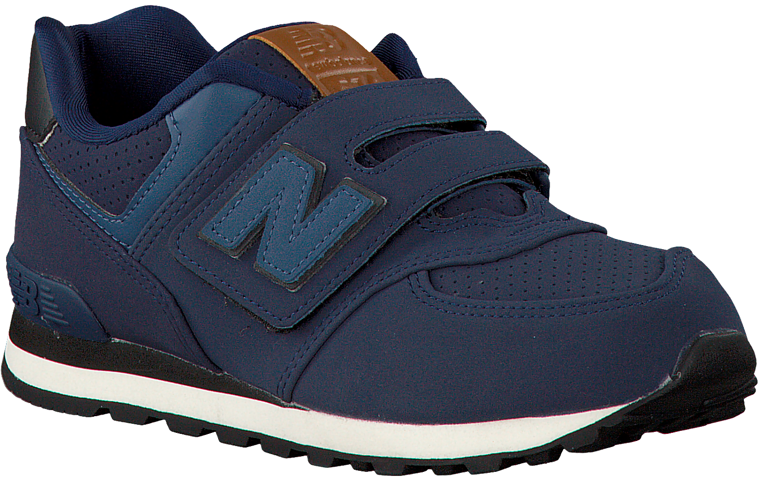 blauwe new balance sneakers kv574