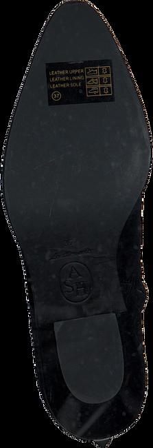 Zwarte ASH Enkellaarsjes FAMOUS  - large