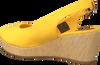 TOMMY HILFIGER Espadrilles ICONIC ELBA SLING BACK WEDGE en jaune  - small