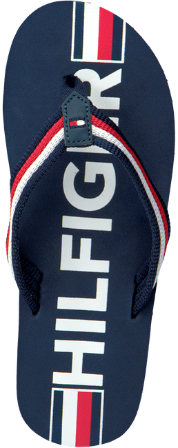 Blauwe TOMMY HILFIGER Teenslippers MAXI LETTERING PRINT FLIP FLOP  - large