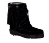 Black MINNETONKA shoe PILE LINED TRAMPER BOOT  - small