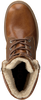 BJORN BORG Bottines à lacets KENNAH HIGH en cognac  - small