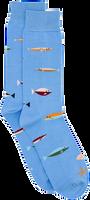 Alfredo Gonzales Chaussettes FISH en bleu  - medium
