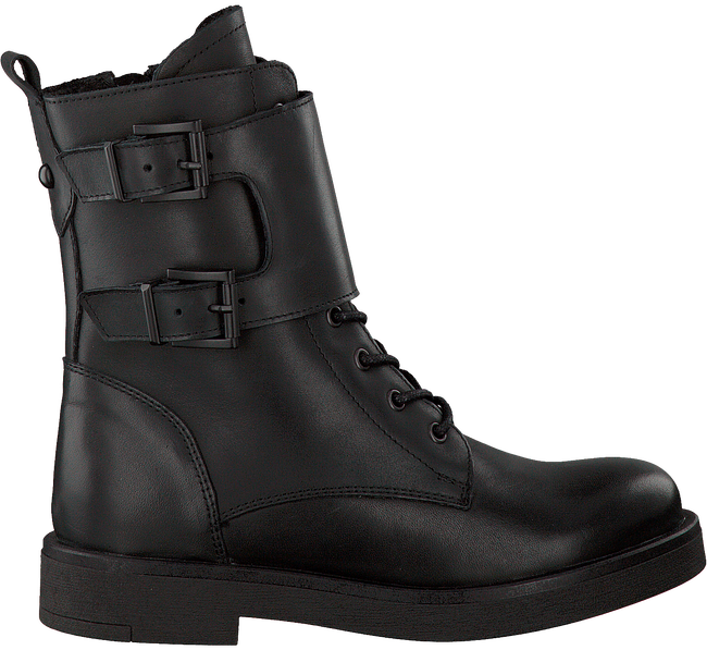 PS POELMAN Bottines à lacets 15246 en noir - large
