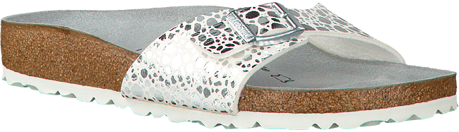 BIRKENSTOCK PAPILLIO Tongs MADRID METALLIC STONES en blanc - large