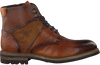 GIORGIO Bottines à lacets HE59607 en cognac - small