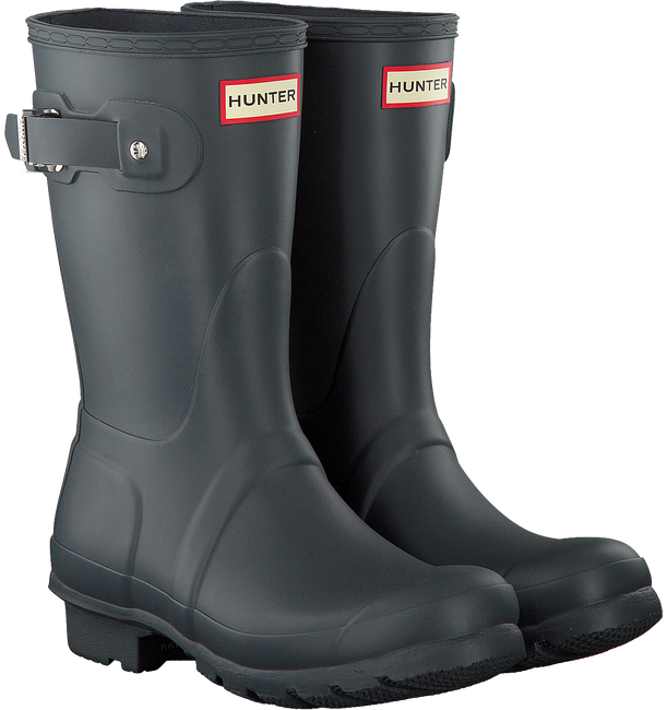 HUNTER Bottes en caoutchouc WOMENS ORIGINAL SHORT en gris - large