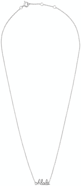 ALLTHELUCKINTHEWORLD Collier URBAN NECKLACE OHLALA en argent - large