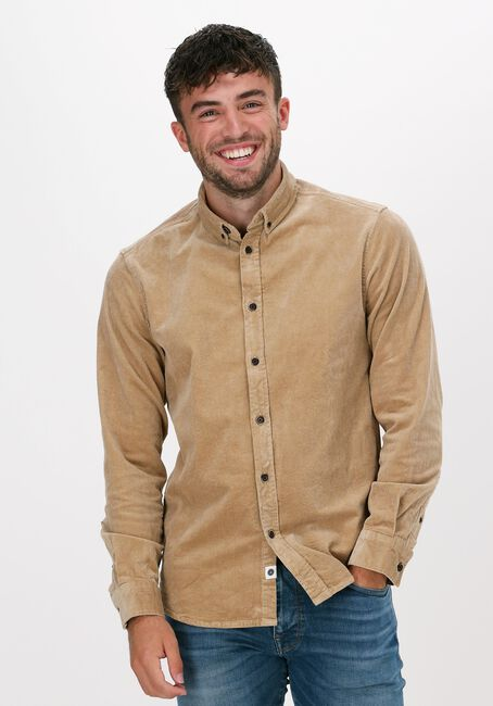 Beige ANERKJENDT Casual overhemd AKKONRAD CORD SHIRT - large